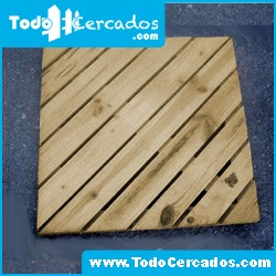 Baldosas diagonales 0.5 X 0.5 m.