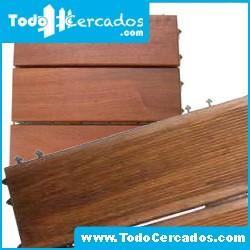 Baldosas de madera tropical 30X30X3.3 cm. (10 unidades)