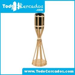 Antorcha de bambú de sobremesa 30 cm. de altura.