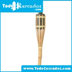 Antorcha de bambú de 90 cm. de altura.