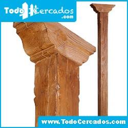Columna de hormigón imitación a madera serie Granada