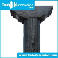 Columna de hormigón imitación a madera serie Talavera