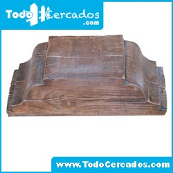 Capitel de hormigón imitación a madera serie Granada