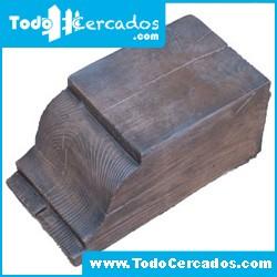 Capitel cortado de hormigón imitación a madera serie Granada