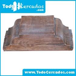 Capitel de hormigón imitación a madera serie Talavera