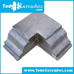 Capitel esquina de hormigón imitación a madera serie Granada