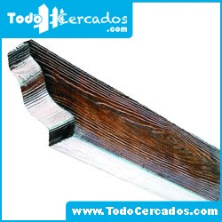 Metro lineal de Pérgola de hormigón imitación a madera 10 X 20 cm. Hasta 2 metros.