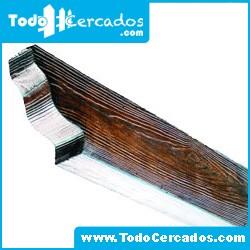 Metro lineal de Pérgola de hormigón imitación a madera 10 X 20 cm. Hasta 4 metros.