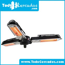 Estufa Electrica Patio Jardin Triple 650 / 1300 / 2000W