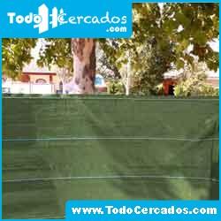 Malla ocultación o sombreo verde 100% 2 X 50 m. Fabricación propia