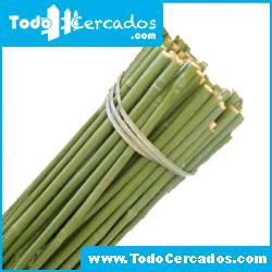 Tutor de bambú plastificado verde Bala 100 unidades 210 cm. diámetro 16-18 mm.