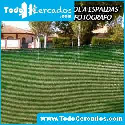 Malla ocultación o sombreo verde 95% 4 X 100 m. Fabricación propia