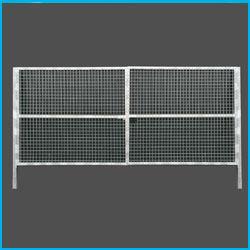 Puerta vehicular simple torsión 4X1.5m alto galvanizada