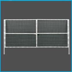 Puerta vehicular simple torsión 6X2m alto galvanizada